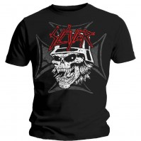 Slayer Men's Black Short Sleeved T-Shirt Graphic Skull Rock Band Official