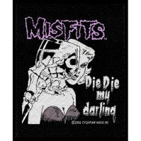 Misfits Die Die My Darling Standard Square Sew On Patch Band Rock Band Jacket Music