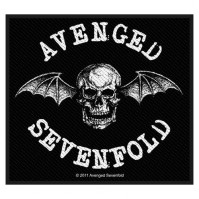 Avenged Sevenfold Classic Death Bat Black Rectangle Sew On Woven Patch Rock A7X