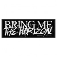 Bring Me The Horizon Horror Logo Black Rectangle Sew On Woven Patch Rock