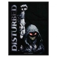 Disturbed Eyes Official Black Rectangle Sew On Woven Patch Heavy Metal Rock