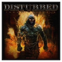 Disturbed Standard Patch Indestructible Woven Sew On Official Band Rock