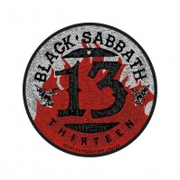 Black Sabbath Patch 13 Flames Circular Sew On Woven Official Heavy Metal Rock