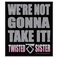 Twisted Sister Were Not Gonna Take It Logo Square Sew On Patch Badge Band Rock