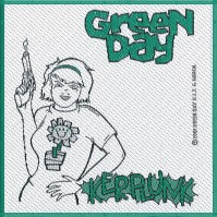 Green Day Standard Square Patch Kerplunk Design Motif Sew On Band Rock