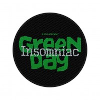 Green Day Insomniac Official Black Round Sew On Woven Patch Punk Rock Pop