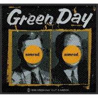 Green Day Standard Square Patch Nimrod Design Motif Sew On Band Rock
