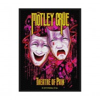 Motley Crue Official Theatre of Pain Rectangle Sew On Patch Badge Black Band