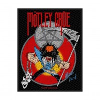 Motley Crue Official Allister Fiend  Rectangle Sew On Patch Badge Black Band