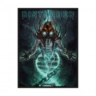 Disturbed Evolution Hooded Patch Black Sew On Woven Official Heavy Metal Rock