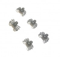 5 X Joke Fake Black Spiders Prank Realistic Trick Small Gag Halloween Prop Gothic