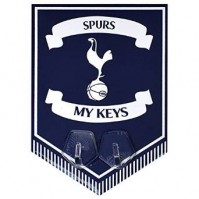 Tottenham Hotspur FC Spurs Metal Pennant Key Hanging Hooks Pegs Badge Official