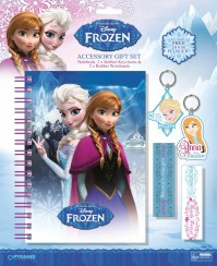 Frozen Elsa Disney Notebook Set Keyring Wristband Kids  Official Merchandise
