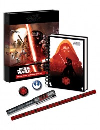 Star Wars Episode VII Choose A Side Stationery Gift Set Notebook Pen Badge Boxed