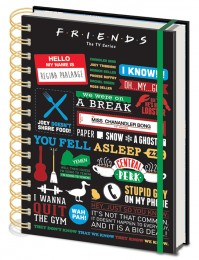 Friends Central Perk Infographic Premium A5 Notebook Official TV Series Chandler