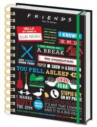 Friends Central Perk Infographic Premium A5 Notebook Official TV Series Chandler