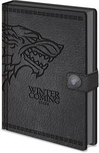 Game Of Thrones Stark Clasp Premium A5 Notebook Lined Hardback Winter Is Coming
