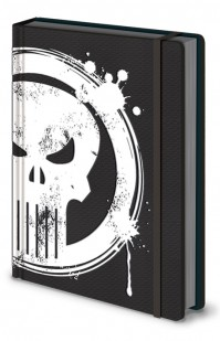 Marvel Comics Official Punisher Skull Premium A5 Lined Hardback Notebook Pad