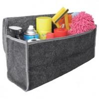 Car Boot Tidy Storage Organiser Bag Folds Flat Pockets Black Rear Large