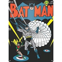 Batman Parachute Steel Sign Comic Book Cover Retro Classic
