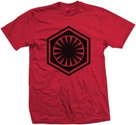 STAR WARS Mens Red T-Shirt: EPISODE VII First Order