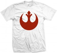 Star Wars Men's White T-Shirt: Episode VII Resistance