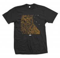 Star Wars Chewbacca Image Icon Black Mens T Shirt Tee Force Awakens Official