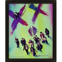 DC Comics Suicide Squad Face Joker Harley Official 3D Lenticular Poster Picture