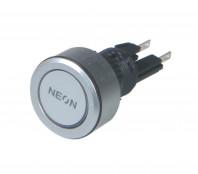 Savage Switch Neons Momentary Push Button Chrome Silver Blue LED Light Kit Car