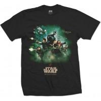 Star Wars Black Men's T-Shirt Rogue One Rebels Poster