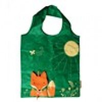 Fox Cunning Green Foldable Shopping Bag Eco Friendly Fun Carry Food Bag