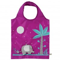 Grey Elephant Foldable Shopping Bag Eco Friendly Fun Carry Food Bag