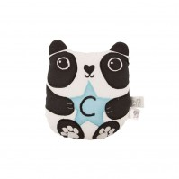 Letter C Aiko Panda Cute Black White Mini Cushion Bear Kawaii Friends Home Bed