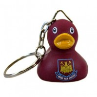 West Ham Utd FC Claret Mini Duck Keyring Keychain Bag Charm Crest Badge Official