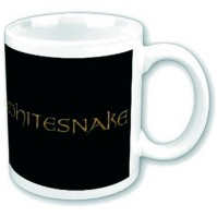 Whitesnake Boxed Standard White Mug Crest Logo Band Rock Tea Coffee