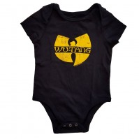 Wu-Tang Clan Official Black Cotton Kids Baby Grow With Logo 0-3 To 24 Months