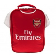 Arsenal Football Club Official Red And White Kit Lunch Bag School Crest Shirt