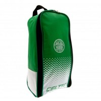 Celtic Football Club Official Nylon Boot Bag Crest Badge Training Zipped Opening