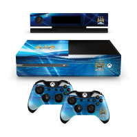 Manchester Man City FC Xbox 1 One Sky Blue Controller Pad And Console Skin Etihad Stadium Image Club Crest Fan Gift Official
