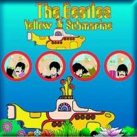 The Beatles Yellow Submarine Portholes Square Metal Fridge Magnet Music