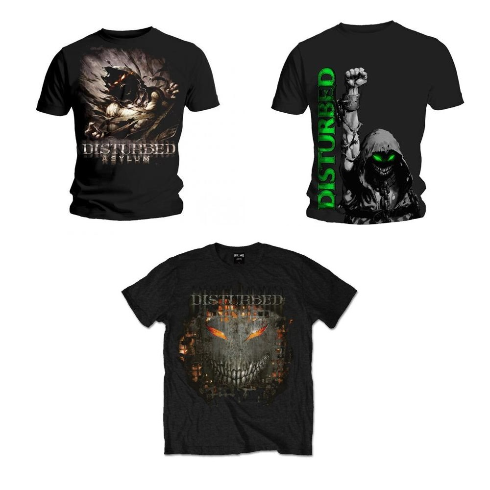 Rock Men/'s All Sizes Metal Tee Disturbed Band T-Shirt