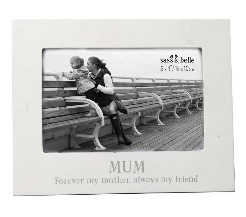 White Wooden Gift Photograph Picture Frames Home Wall Love Holder ...