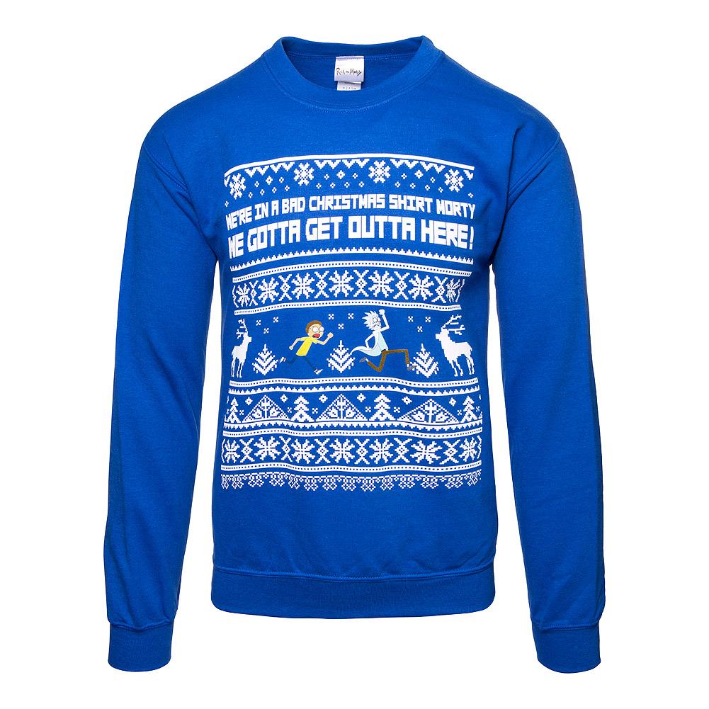 Snowball Rick And Morty Inspired Adults Novelty Christmas Sweatshirt Jumper