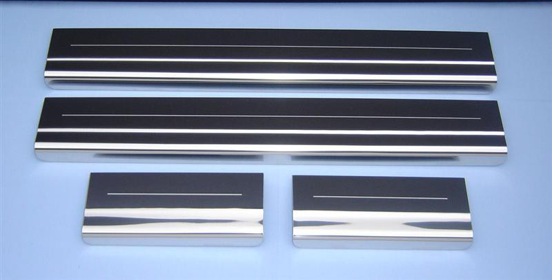 Ford Kuga 4 Stainless Steel Polished Chrome Door Sills Protectors Kick Plates