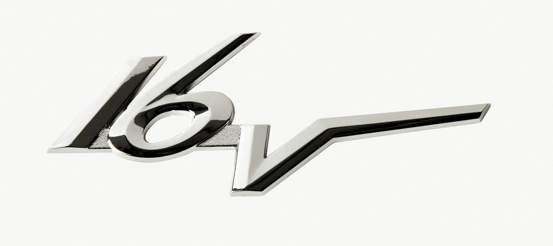 16V Car Chrome Effect Badge Logo Stick On Emblem 3D Look Self Adhesive