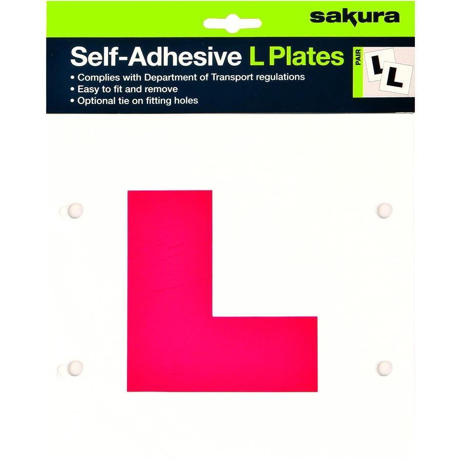 Pair Learner Driver Self Adhesive L Plates