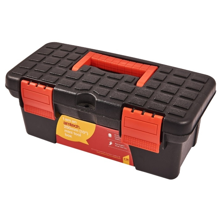 Details About 10 Mini Tool Box Handle Durable Plastic Diy Storage Builder Fishing Tackle