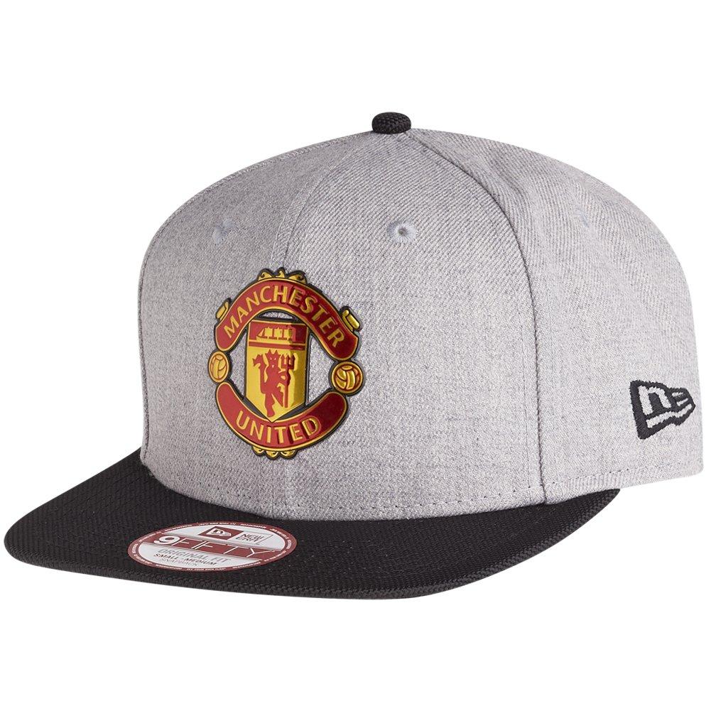 Details about Manchester United Football Club Grey Black Hat New Era  9FIFTIY Snapback Cap M L 22998b75df2