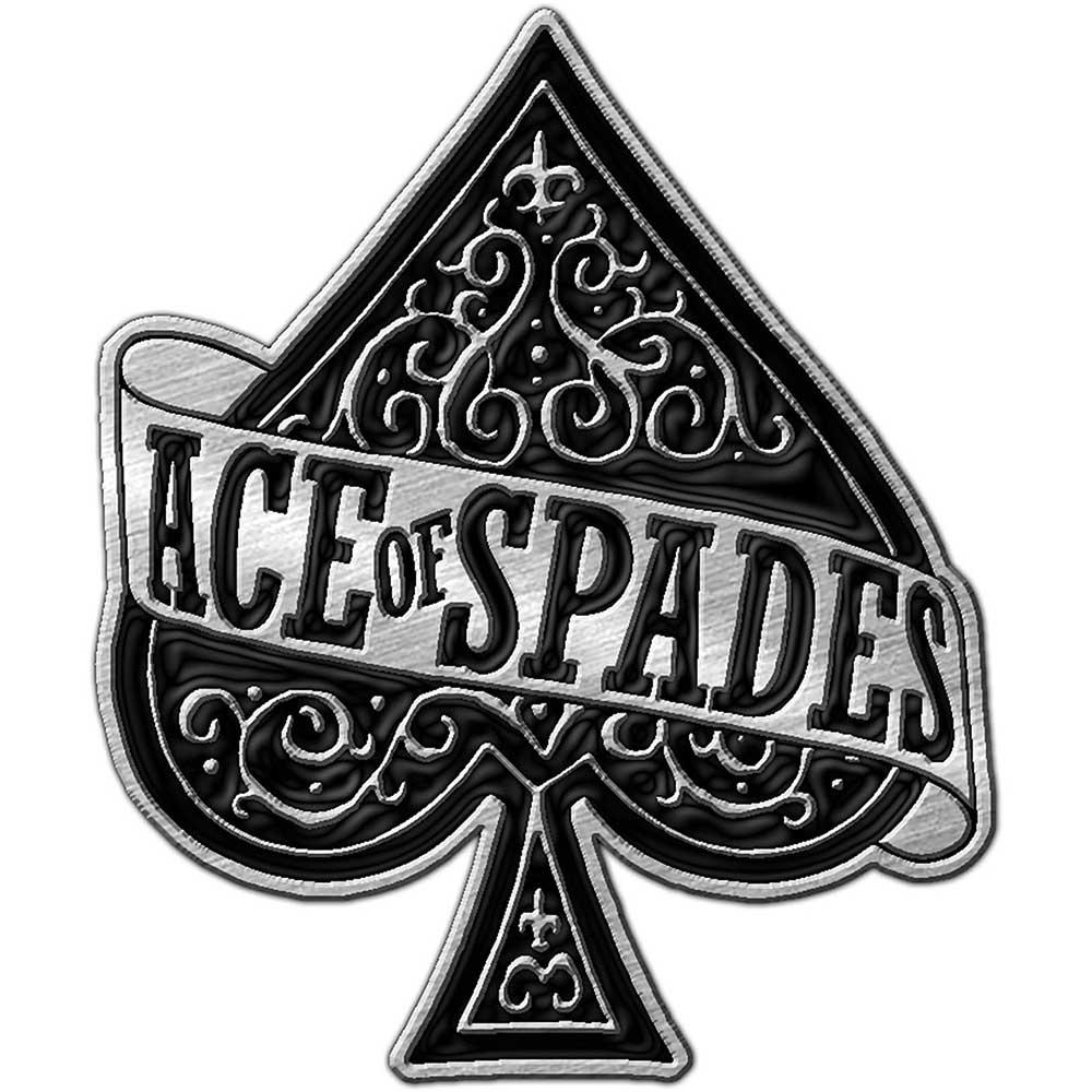 Motorhead Official Ace Of Spades Metal Pin Badge Rock Lemmy Skull