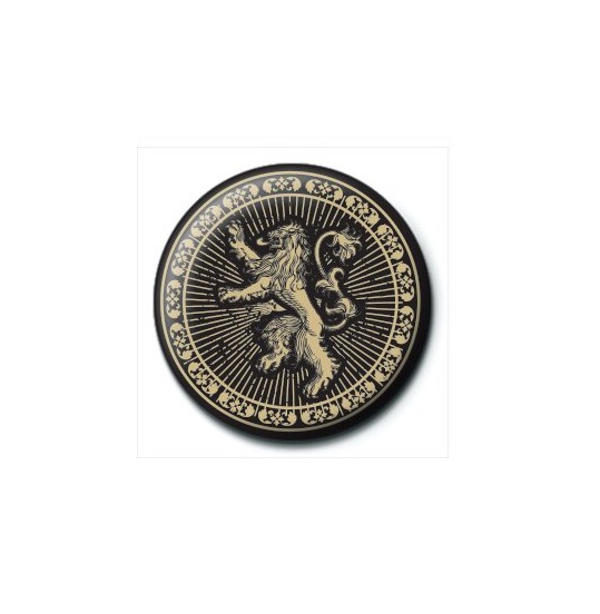 GAME OF THRONES 25MM LANNISTER BADGE BUTTON PIN NEW